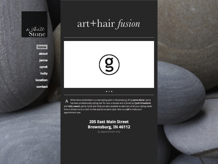 New Website: A White Stone StudioSalon