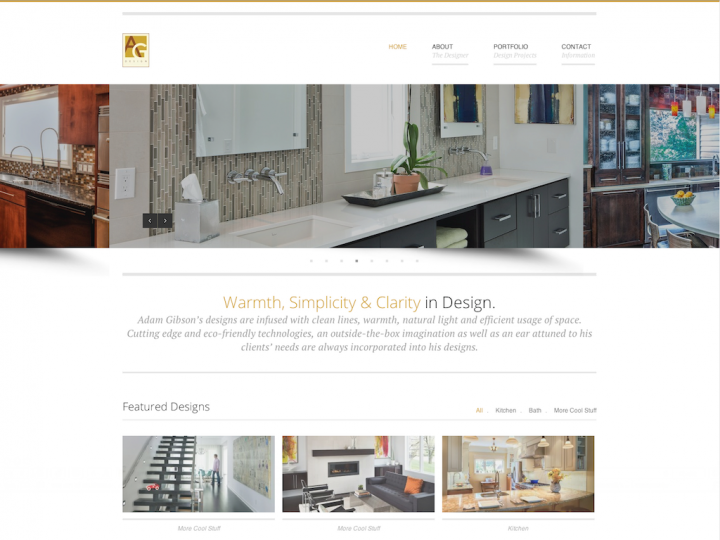 New Website: Adam Gibson Design