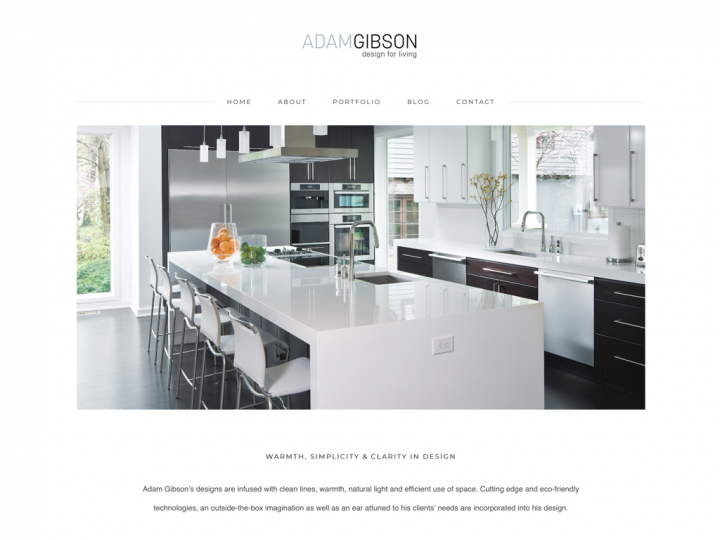 Website Redesign: Adam Gibson Design