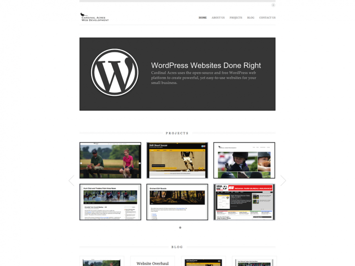 Website Redesign: Cardinal Acres Web Development
