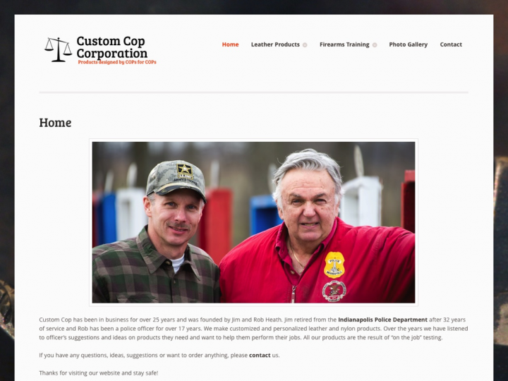 New Website: Custom Cop Corporation