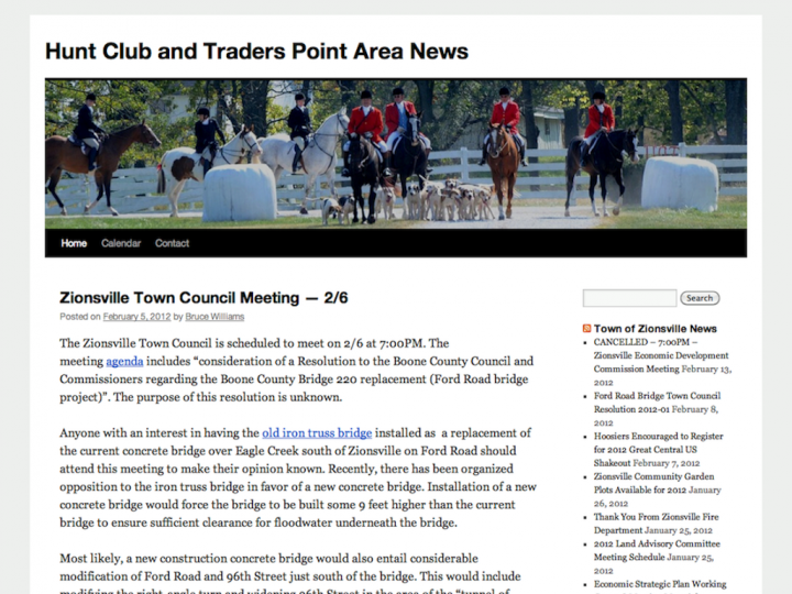 New Website: Hunt Club Area