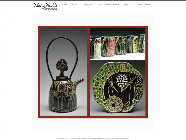 New Website: Marcy Neiditz Ceramic Art