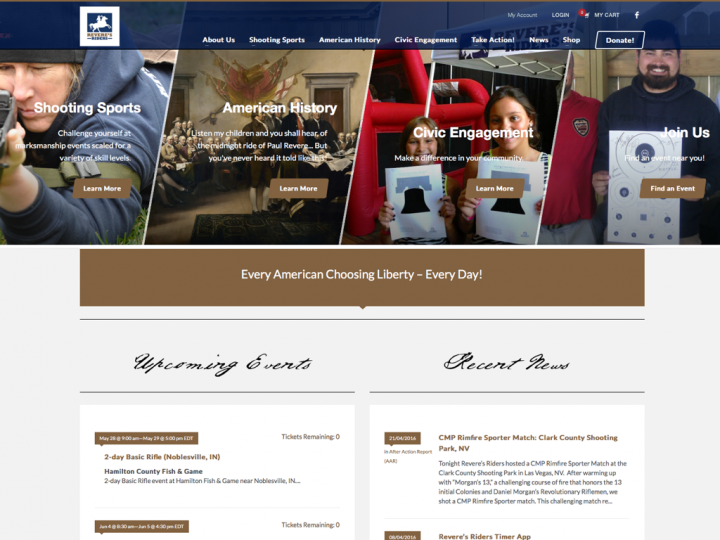 New Website: Revere's Riders