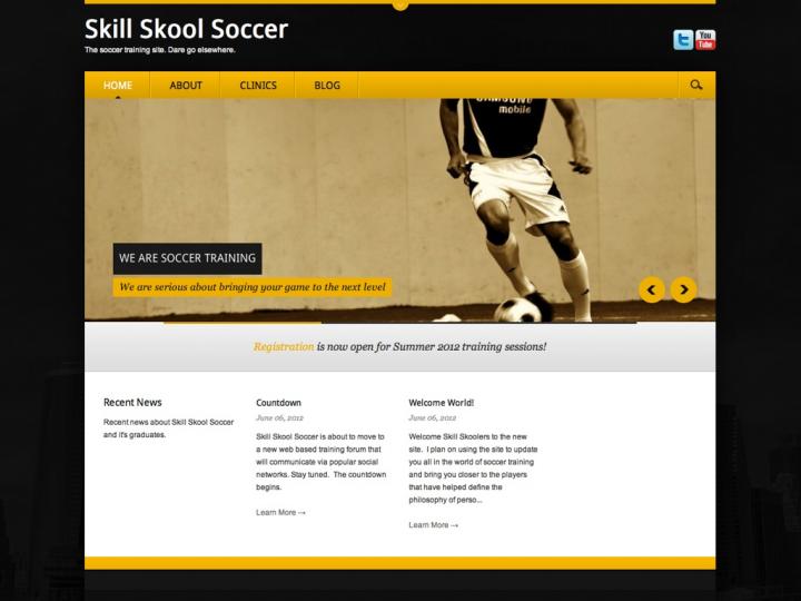New Website: Skill Skool Soccer