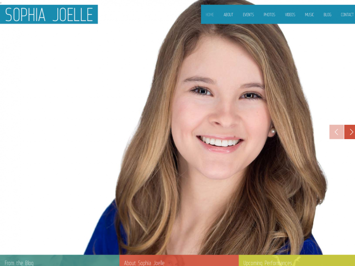 New Website: Sophia Joelle