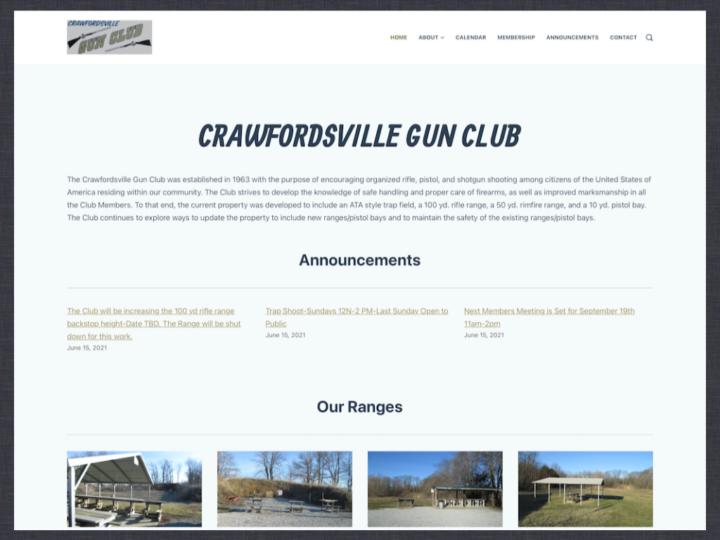 New Website: Crawfordsville Gun Club