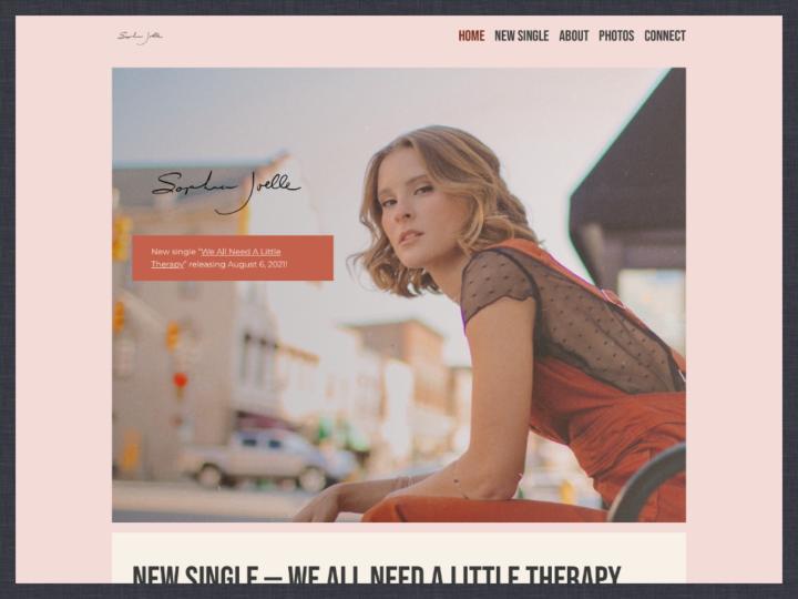 Website Redesign: Sophia Joelle
